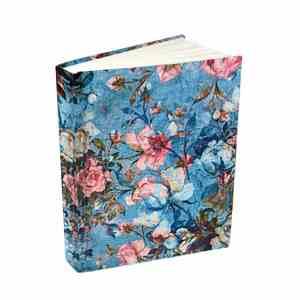 Floral Blue Vegan Diary