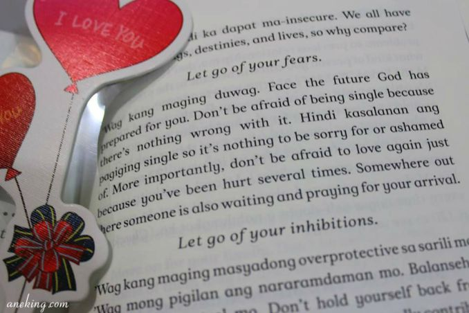 Let go of your fears.