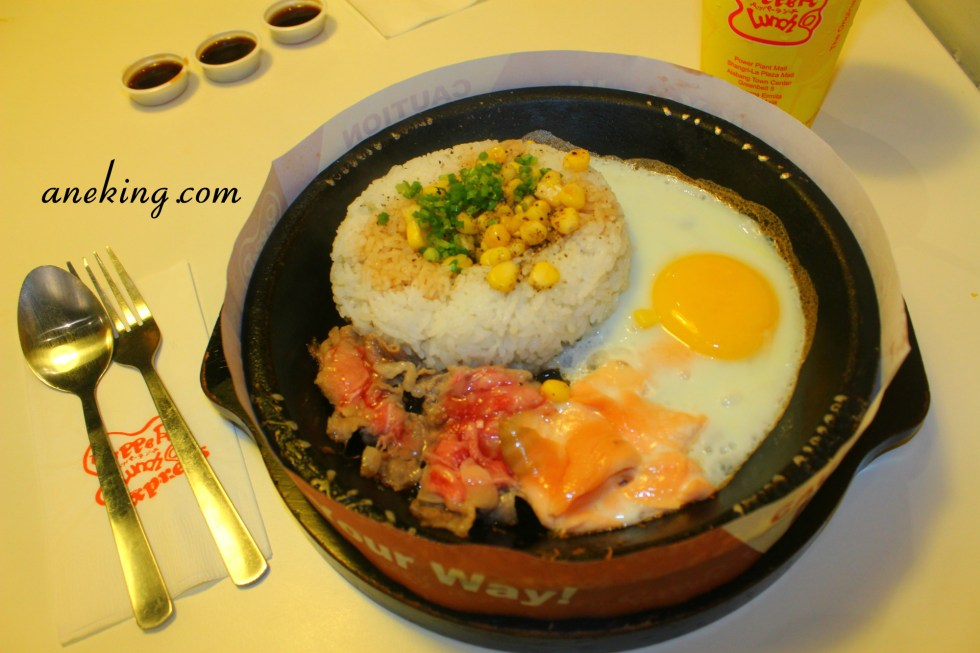 7. Beef and Salmon Pepper Rice