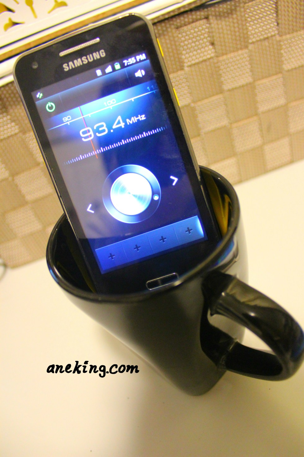 7. When you're listening to music, put your phone in a glass to amplify the sound.