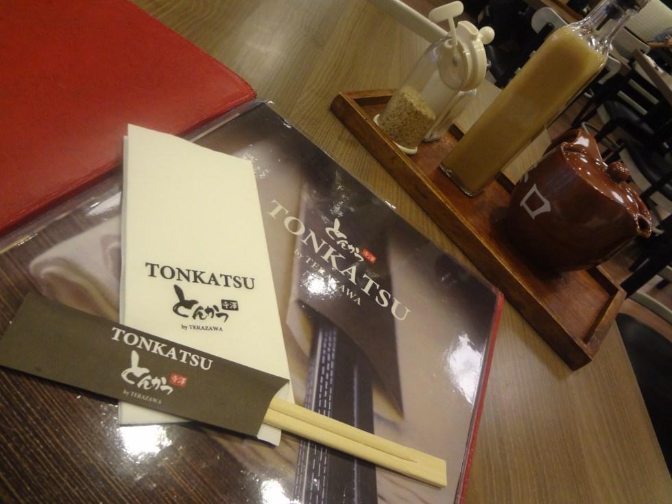 Tonkatsu menu