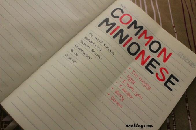 common minionese