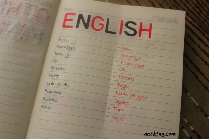 english minion language