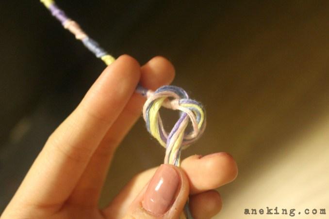 spiral Thread Bracelet DIY step 14