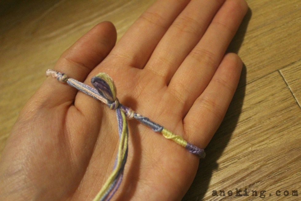 spiral Thread Bracelet DIY step 17