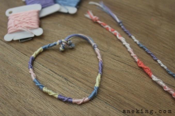 spiral Thread Bracelet DIY step 20