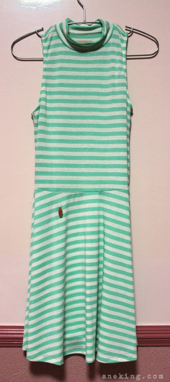 candies green striped dress