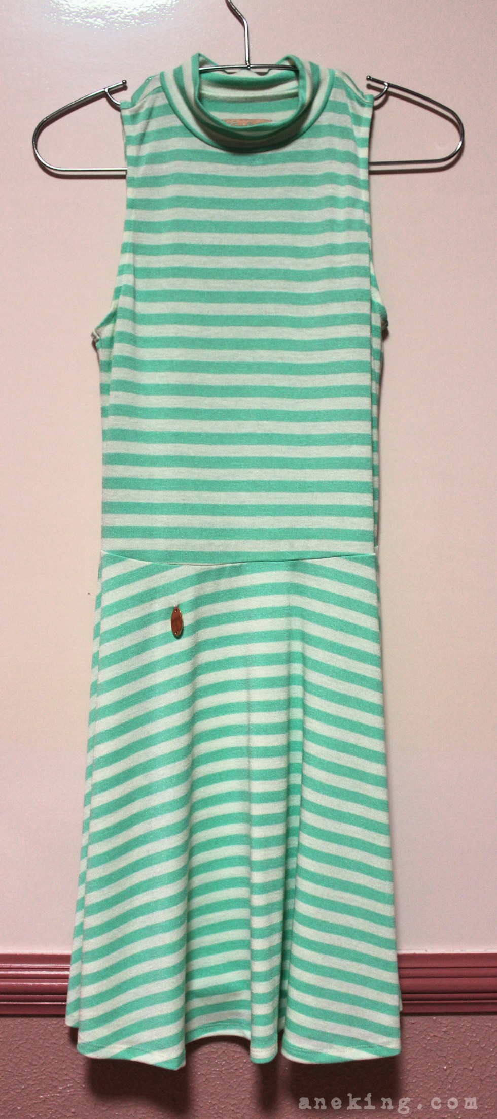 candies green striped dress