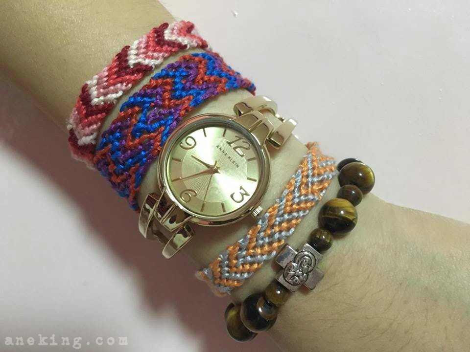 diy chevron thread bracelet