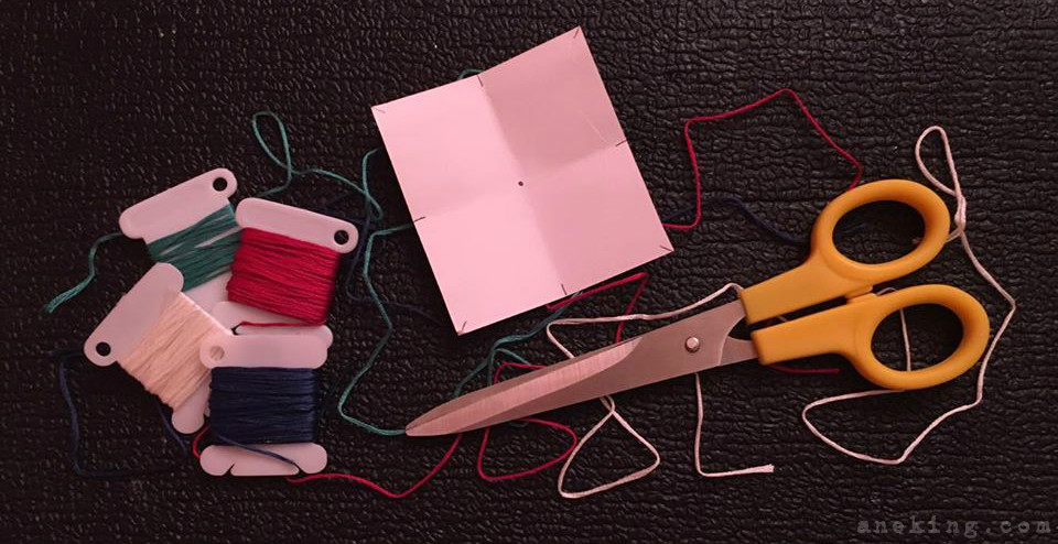 rope thread bracelet step 1