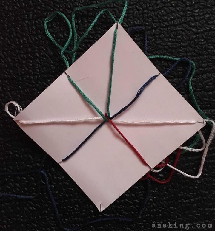 rope thread bracelet step 9