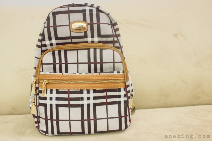 Jovanni plaid backpack