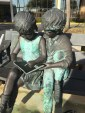Brass sculpture - Children reading