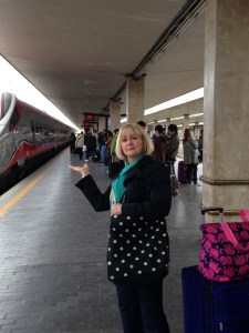 Waiting for the train to Venice
