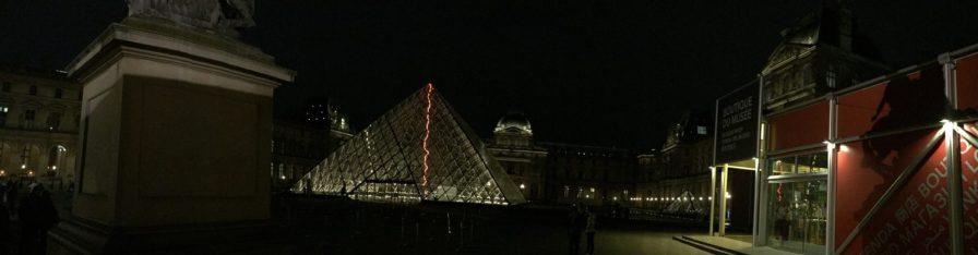 The glass pyramid, Lourve, Paris
