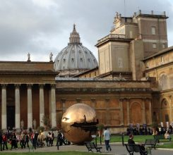 Golden globe at the Vatican