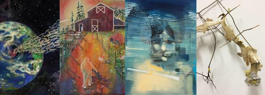 "Details of 4 works created for ""Endangered"""