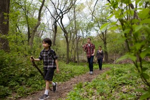 A family hike on the trails near the Trailside Museum, April, 2012