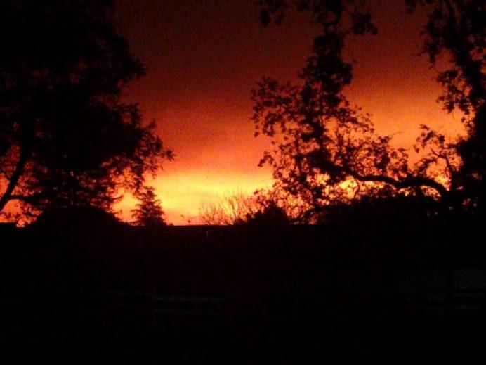 Tubbs Fire Daybreak