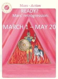 Mars astrological card