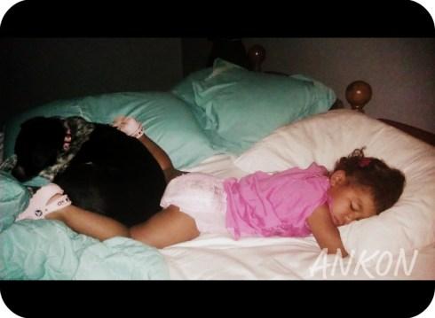 abby and chloe sleeping