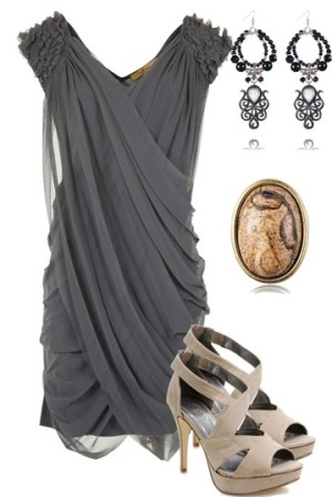 Gray-Holiday-Cocktail-Dress