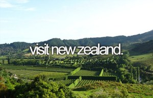 Bucket List - Visit New Zealand