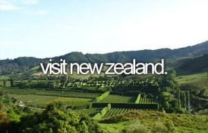 Bucket List - Visit New Zealand