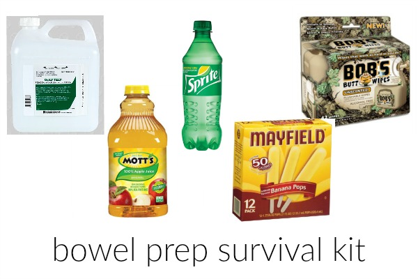 Bowel Prep Survival Kit