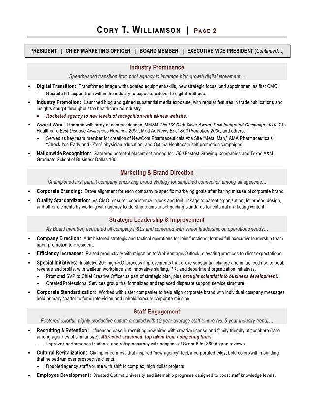 award winning resume examples