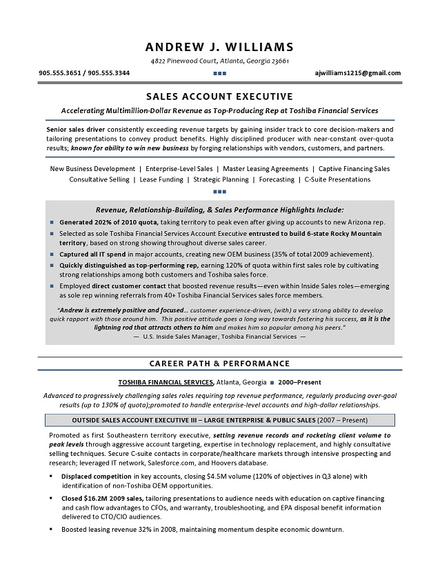 sales resume outside sales representative resume sample - It Sales Resume Sample Information Technology Sales Resume