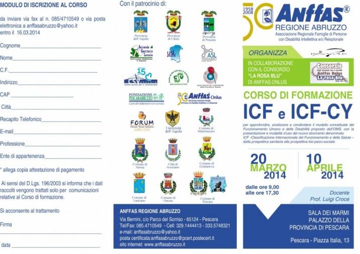 brochure CORSO ICF-Anffas Abruzzo fronte