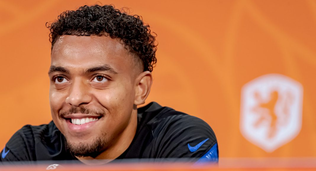 ZEIST, NETHERLANDS - JUNE 22: Donyell Malen of Holland during the Training MenPress Conference Holland at the KNVB Campus on June 22, 2021 in Zeist Netherlands.