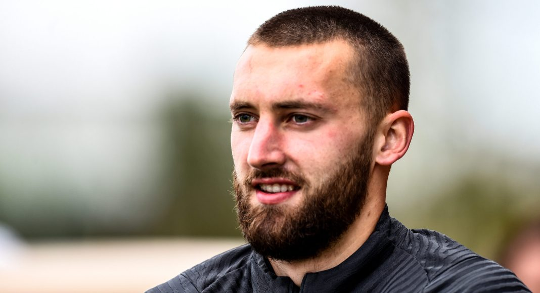 KIRKBY, ENGLAND - MAY 11: (THE SUN OUT, THE SUN ON SUNDAY OUT) Nathaniel Phillips of Liverpool during a training session at AXA Training Centre on May 11, 2021 in Kirkby, England.