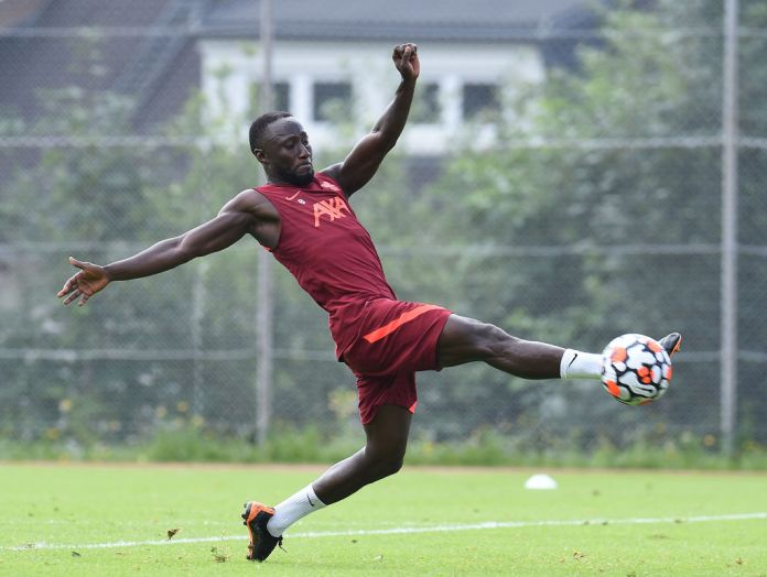 UNSPECIFIED, AUSTRIA - JULY 19:(THE SUN OUT, THE SUN ON SUNDAY OUT) Naby Keita of Liverpool during a training session on July 19, 2021 in UNSPECIFIED, Austria. (Photo by John Powell/Liverpool FC via Getty Images)
