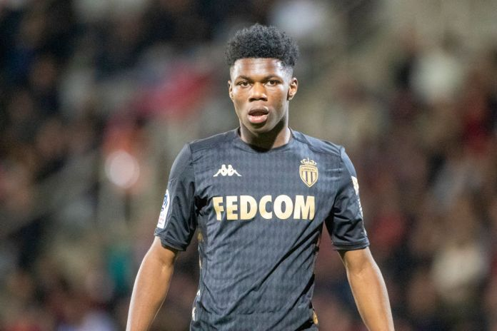 NIMES, FRANCE - February 01: Aurelien Tchouameni #24 of Monaco during the Nimes V Monaco, French Ligue 1, regular season match at Stade des Costieres on February 1st 2020, Nimes, France (Photo by Tim Clayton/Corbis via Getty Images)