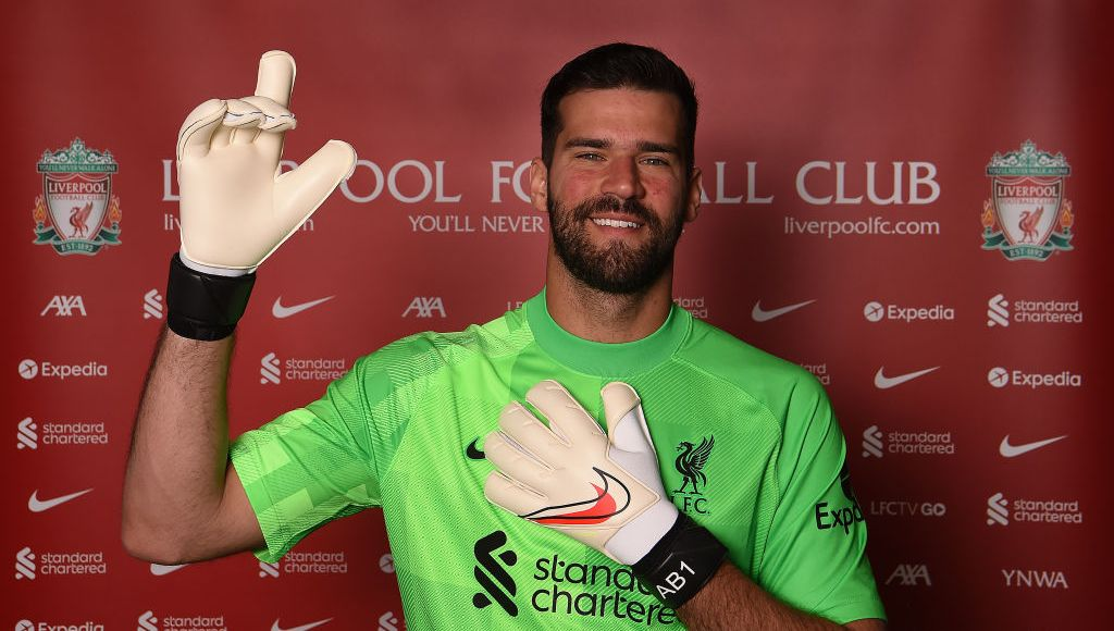 UNSPECIFIED, AUSTRIA - AUGUST 04: (THE SUN OUT. THE SUN ON SUNDAY OUT) Allison Becker Pictured after Signing a New Contract at Liverpool on August 04, 2021 in UNSPECIFIED, Austria. (Photo by John Powell/Liverpool FC via Getty Images)