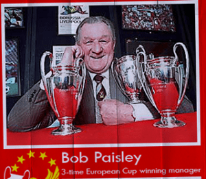 Bob Paisley, winner of 3 of Liverpool's 5 European Cups
