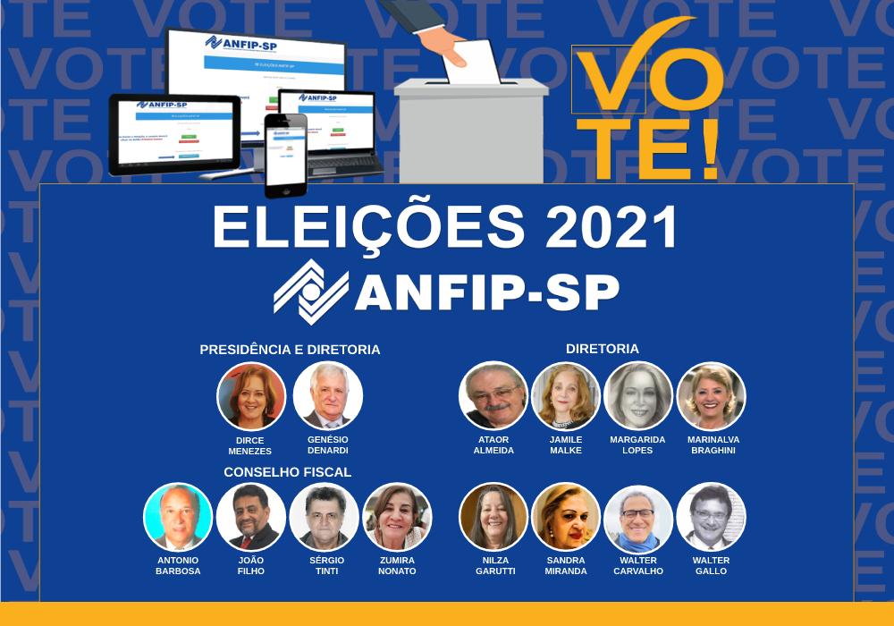 Eleições ANFIP-SP: confira os candidatos para Conselho Fiscal, Diretoria e Presidência