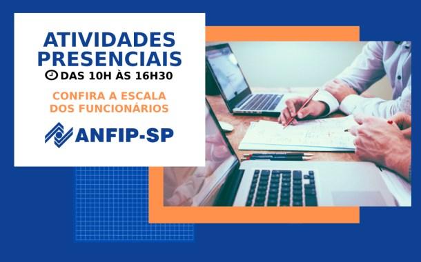 ANFIP-SP atualiza escala dos funcionários para atividades presenciais; confira