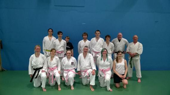 2. UL Karate Club in their pink belts