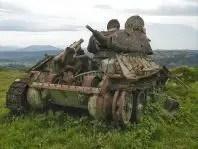 Restos de un tanque