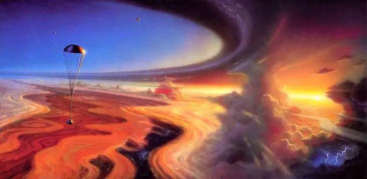 Ilustración de la Galileo Probe