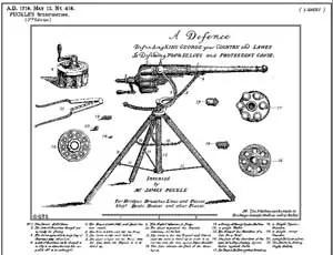 Patente del arma de Puckle
