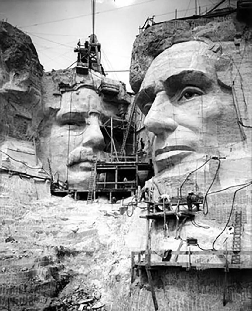 Fotografía del Monte Rushmore.