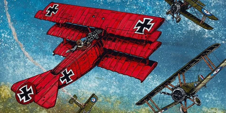 Ilustración del avión del Barón Rojo
