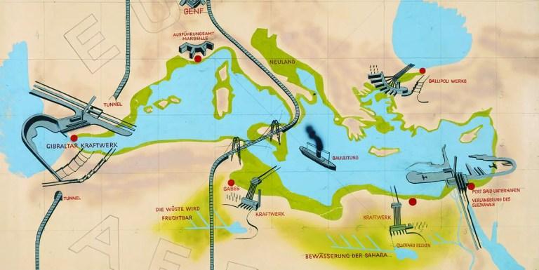 El Proyecto Atlantropa y la transformación del Mediterráneo en tierra firme