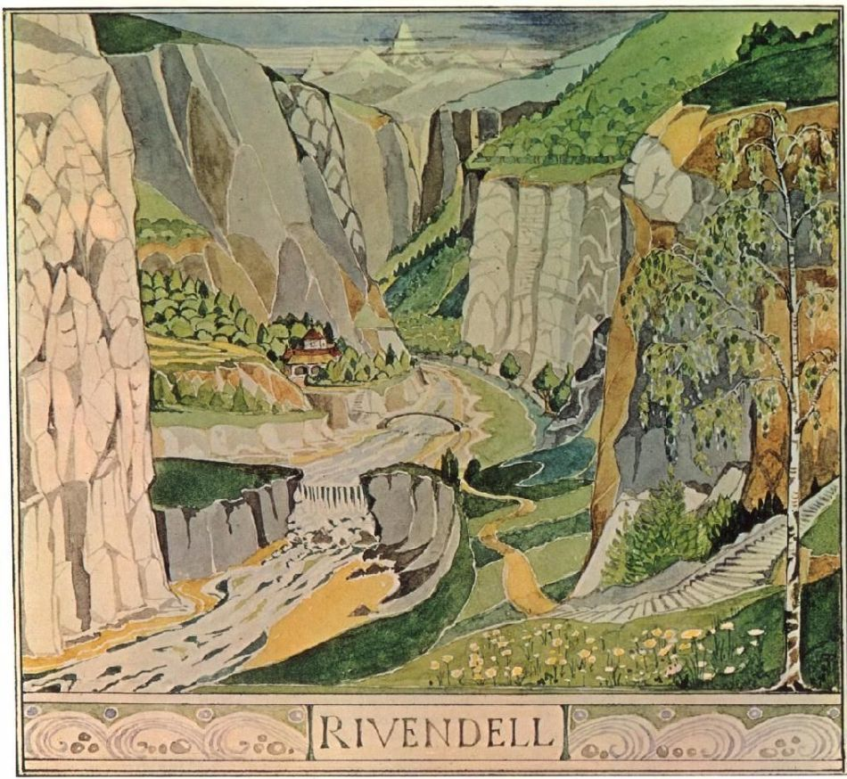 Ilustración de Rivendell.