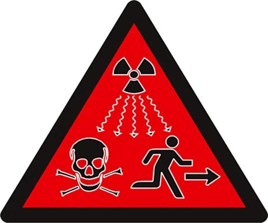Símbolo de radiación.
