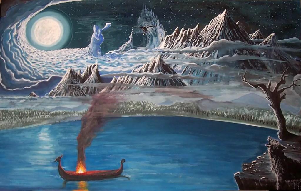 Ilustración de las tierras heladas.